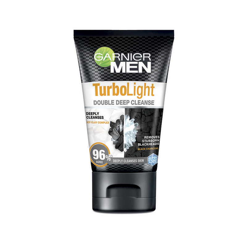 Garnier Men Turbo Light Oil Control Double Deep Cleanse, 100ml