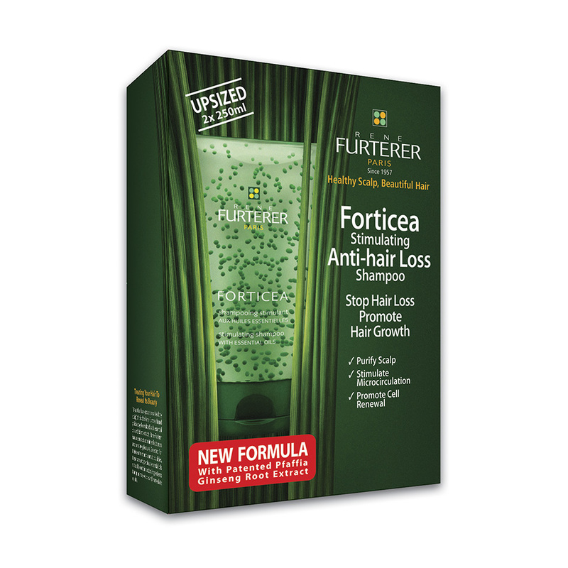 Rene Furterer Forticea Stimulating Anti-Hair Loss Shampoo Twin Pack, 2x200ml