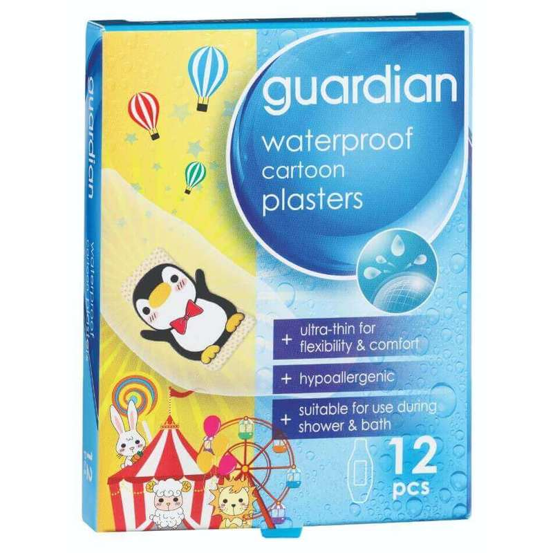 Guardian Waterproof Cartoon Plasters, 12pcs