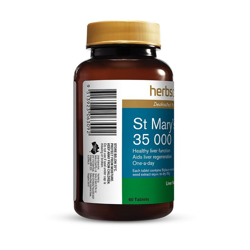 Herbs of Gold St Mary's Thistle 35 000 60 Tablets