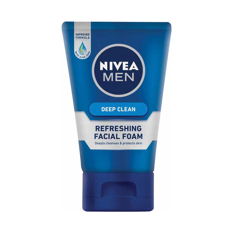 Nivea Men Deep Clean Refreshing Facial Foam, 100g