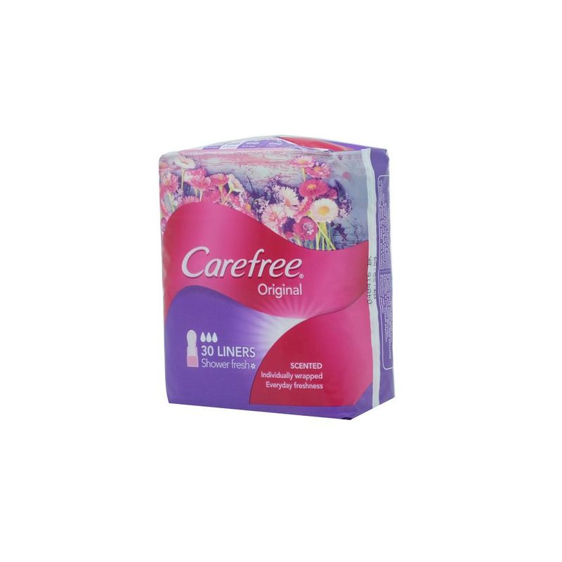Carefree Pantyliner Scented Shower Fresh, 30pcs