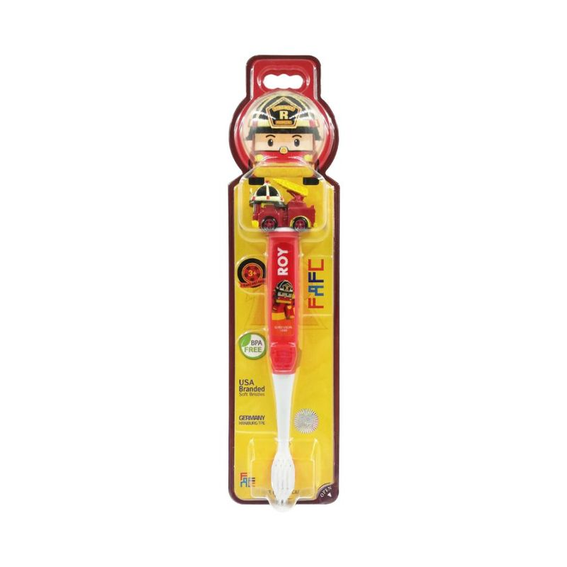FAFC Robocar Poli Kids Toothbrush - Roy Figurine