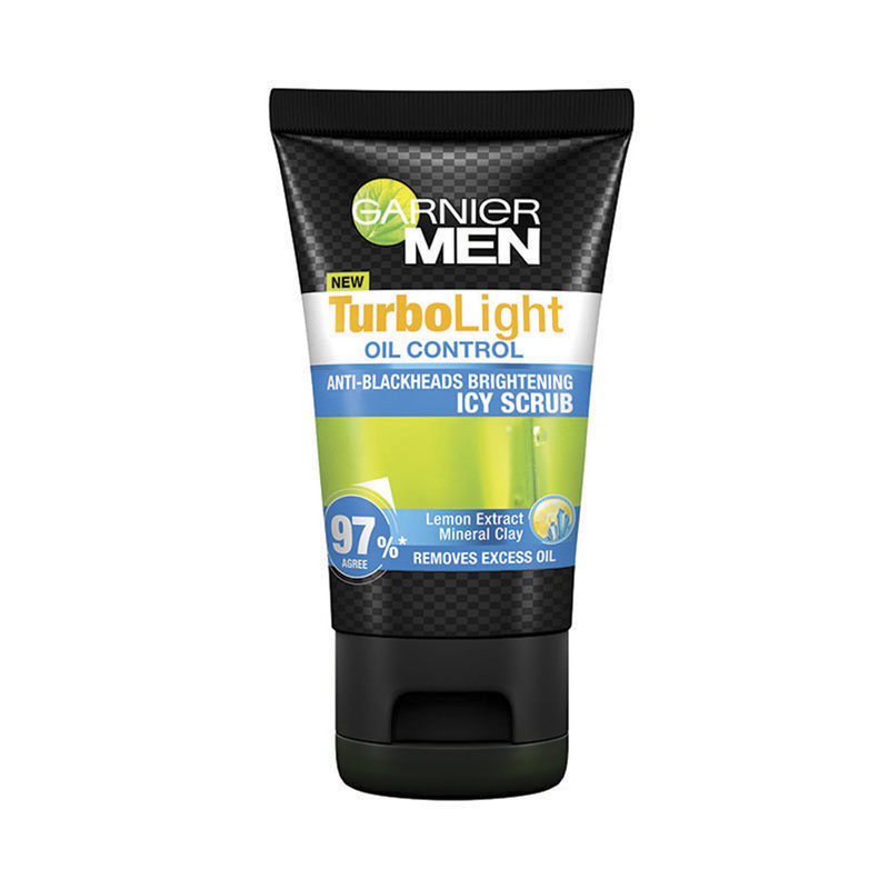 Garnier Men TurboLight Oil Control Icy Scrub, 100ml