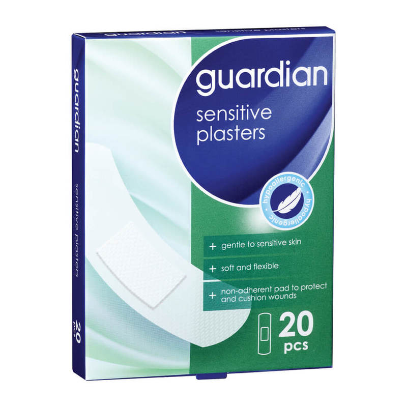 Guardian Sensitive Plasters, 20pcs