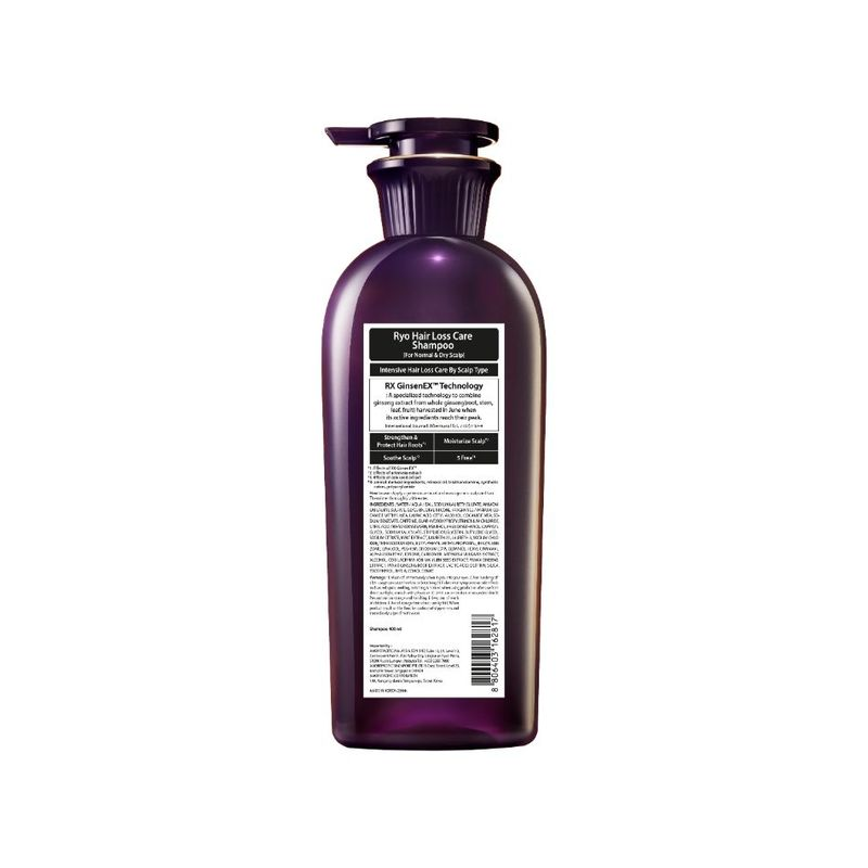 Ryo Hair Loss Care Shampoo for Normal to Dry Scalp, 400ml