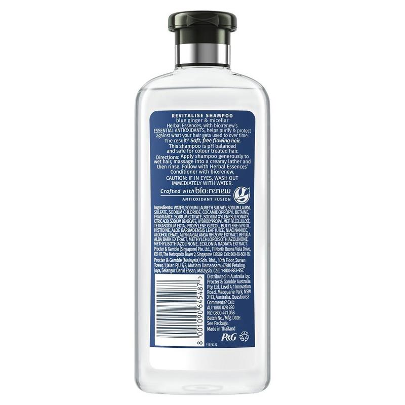 Herbal Essences REVITALIZE Blue Ginger and Micellar Shampoo, 400ml