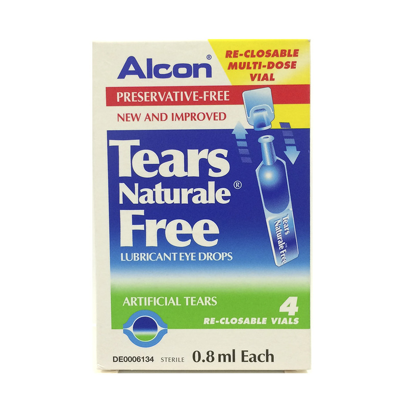 Alcon Tears Naturale Free Lubricant Eye Drops, 4pcs