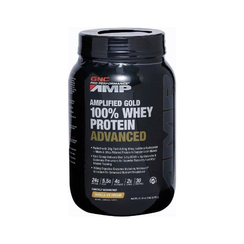 GNC AMP Gold 100% Whey Protein Advanced (Vanilla) 1.96lbs