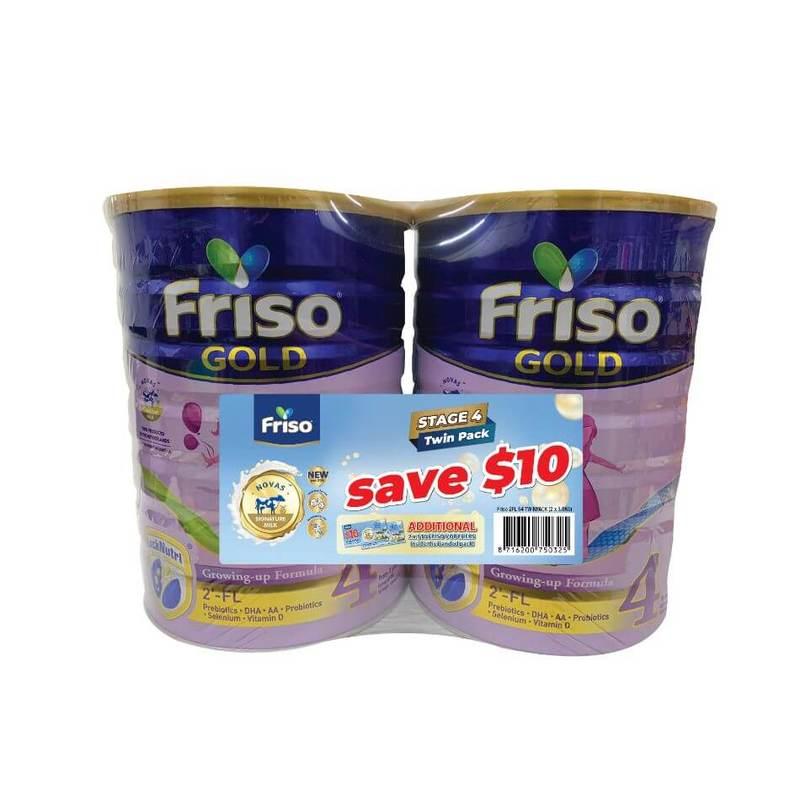 Friso 2FL Growing Up Gold 4 Twin Pack 1.8kg X 2 (Additional $20 Friso Voucher Inside)