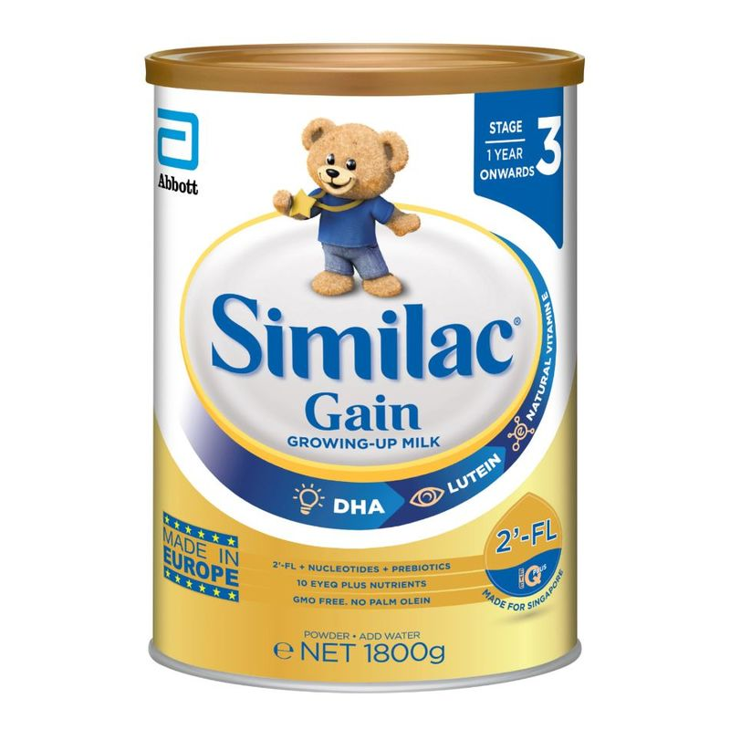 Similac Gain 2-FL Stage 3 Milk Formula - 1.8KG