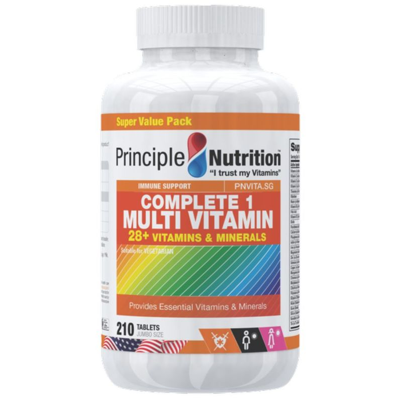 Principle Nutrition Complete 1 Multi Vitamin, 210 tablets