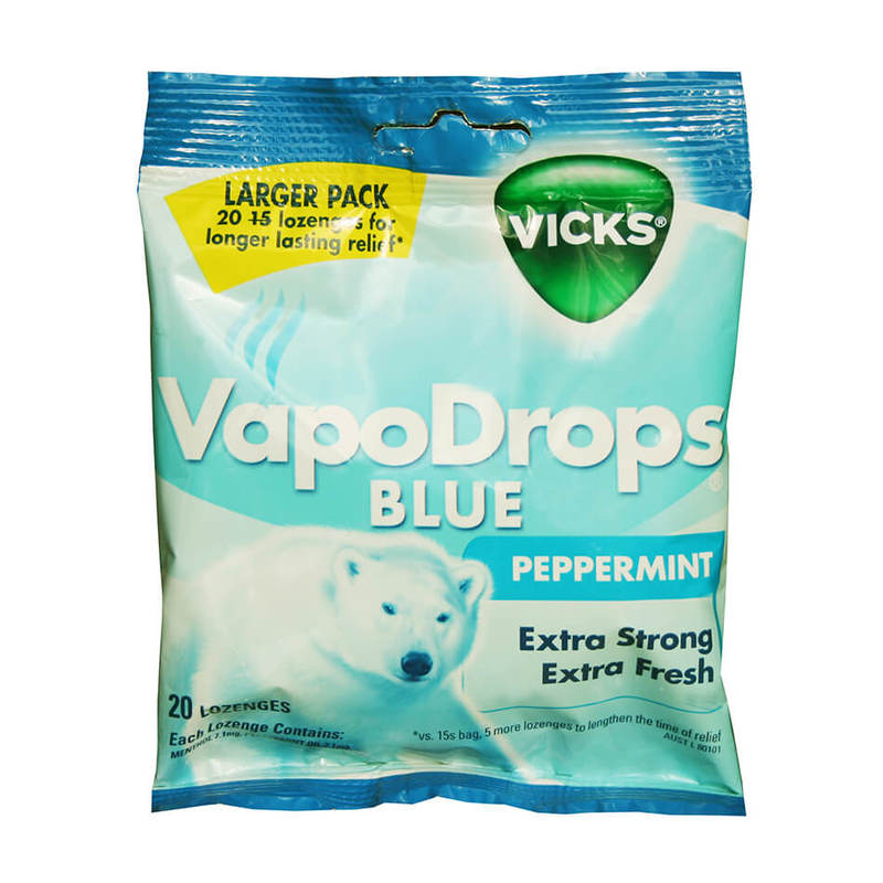 Vicks Vapodrops Blue Peppermint, 70g