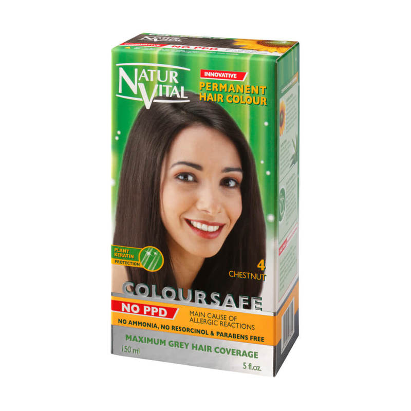 Natur Vital ColourSafe Permanent Hair Dye Chestnut