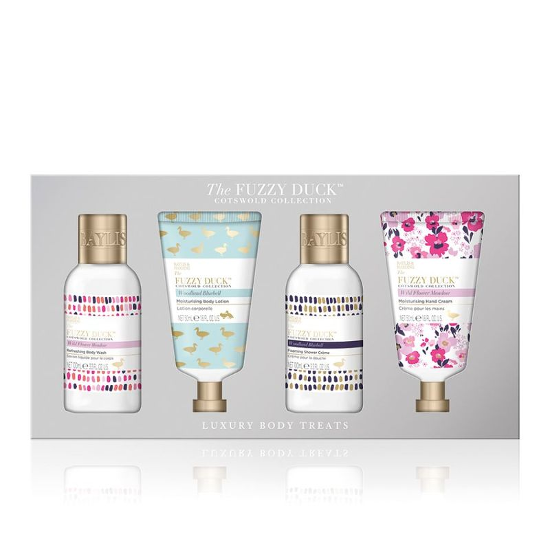 Baylis & Harding Fuzzy Duck Cotswold Floral 4 Piece Set