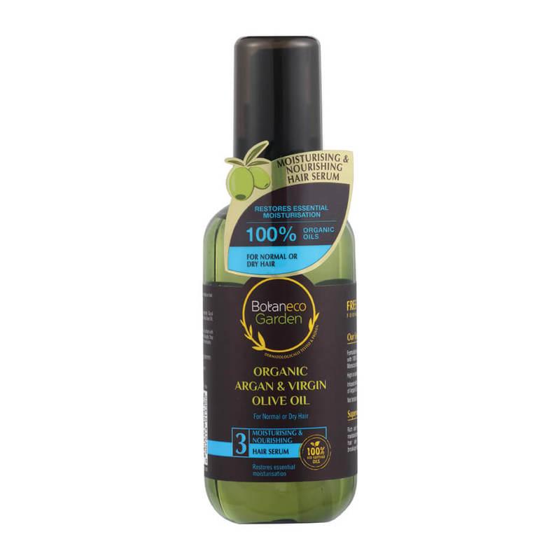 Botaneco Garden Organic Argan and Virgin Olive Oil Moisturising & Nourishing Hair Serum, 95ml
