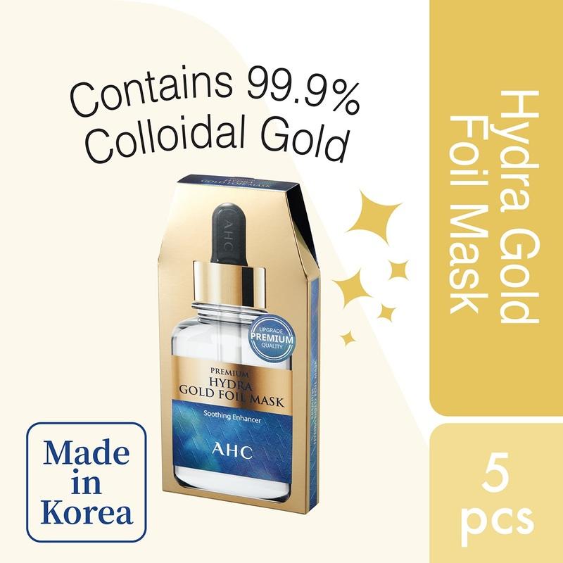 AHC Premium Hydra B5 Goldfoil Mask 5pcs