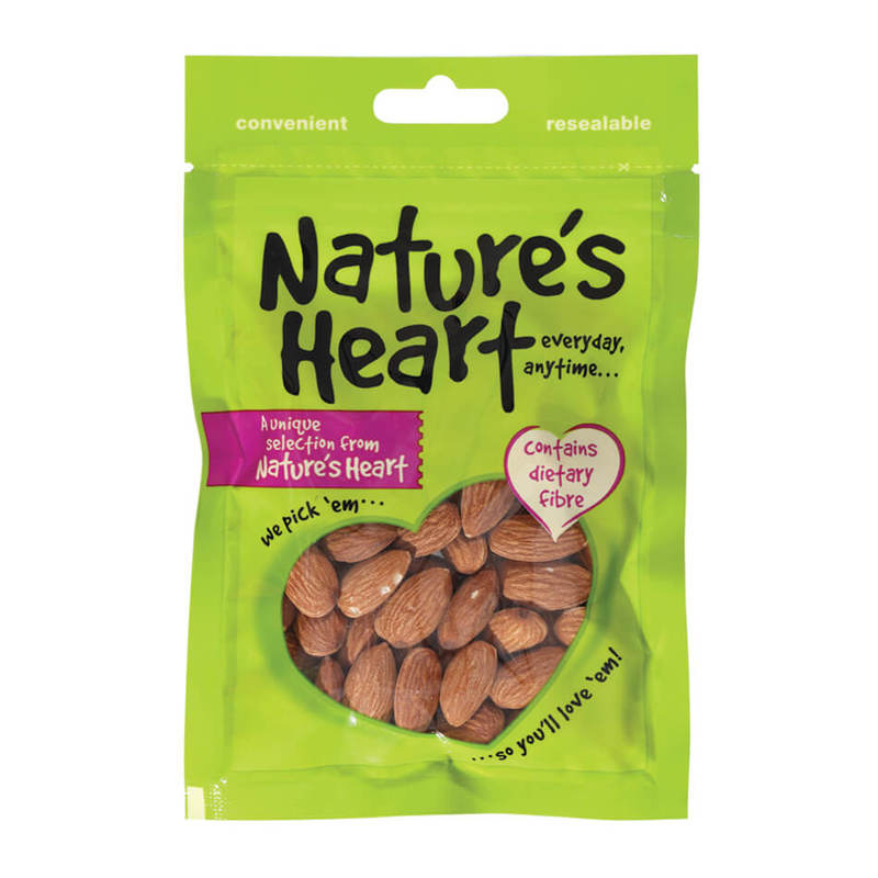 Nature's Heart Roasted Almond (Unsalted), 70g