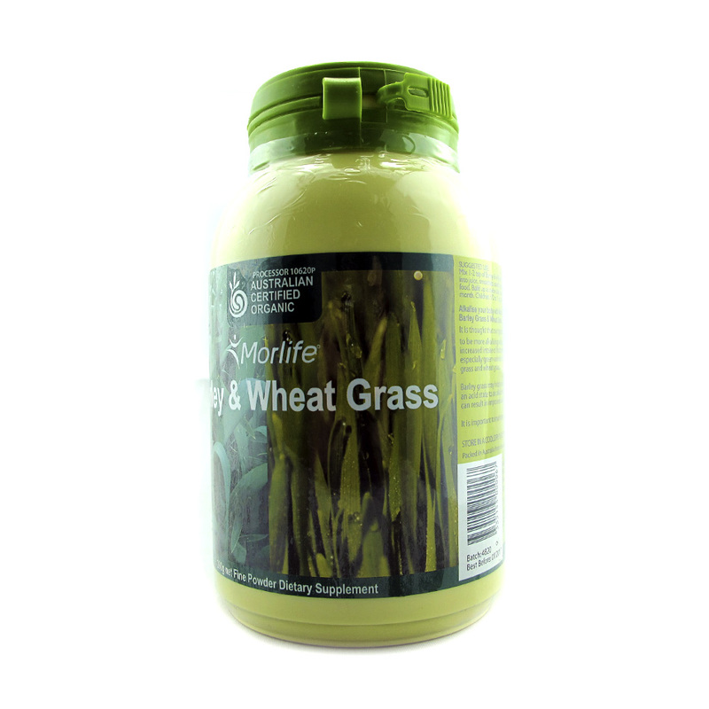 Morlife Wheat grass & Barley Grass Powder, 250g