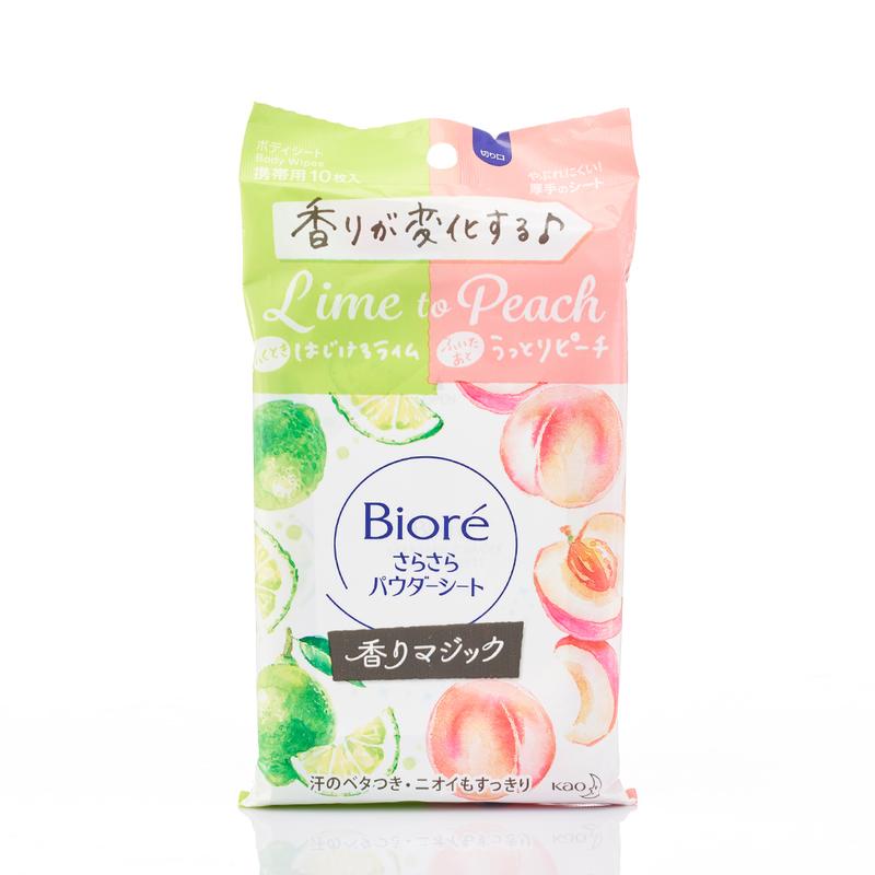 Biore Powder Sheets Sachet Lime To Peach 10pcs