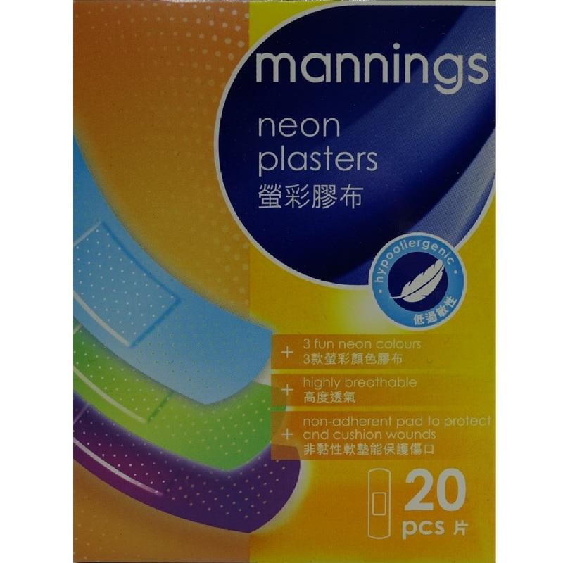 Mannings Neon Plaster 20pcs-N