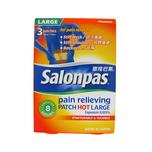 Salonpas Pain Relief Patch HOT, Large 3s