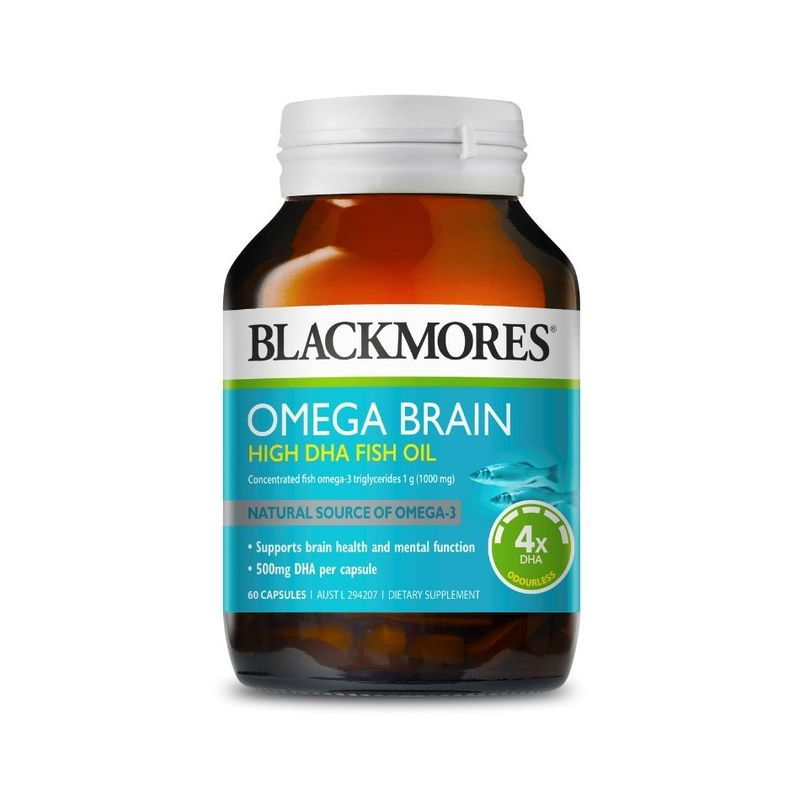 BLACKMORES omega brain concentrated fish oil dha 60 capsules
