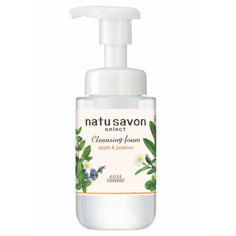 Natu Savon Select Cleansing Foam Moist Apple & Jasmine, 200ml