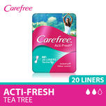 Carefree Pantyliner Acti-Fresh Tea Tree, 20pcs
