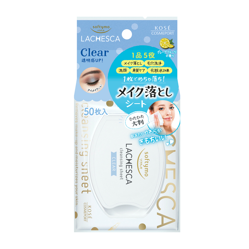 Kose Cosmeport Lachesca Cleansing Sheet Clear 50sheets