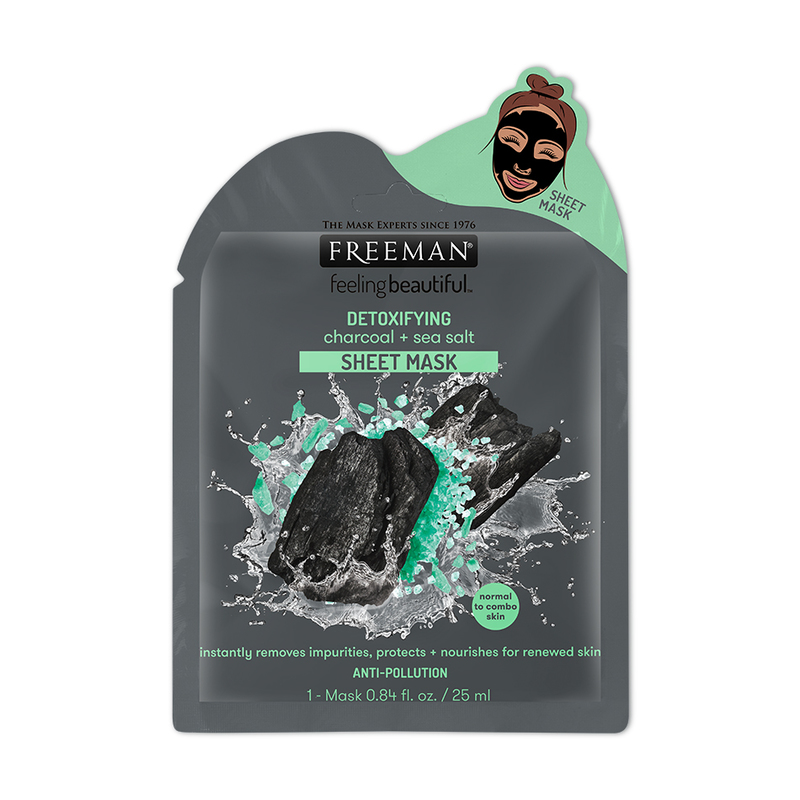 Freeman Detoxifying Charcoal + Sea Salt Sheet Mask