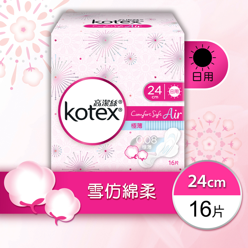 Kotex Comfort Soft Air SUT Day 24cm (Plain) 16pcs