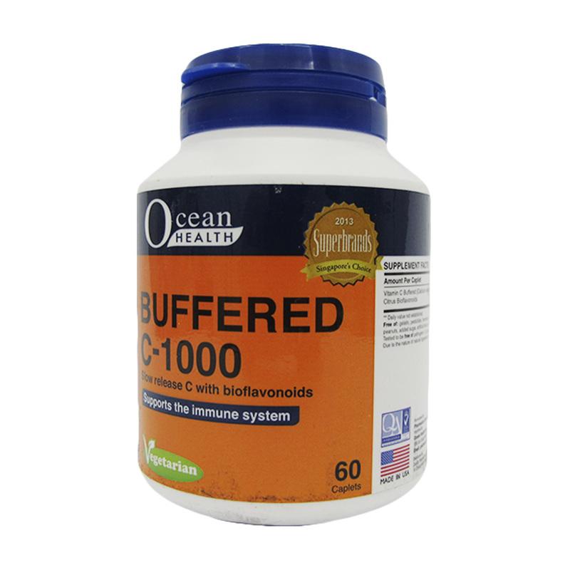 Ocean Health Buffered C-1000 with Citrus Bioflavonoids, 60 caplets