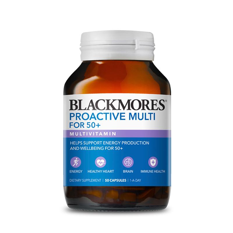 Blackmores Proactive Multivitamin For 50 plus, 50 capsules