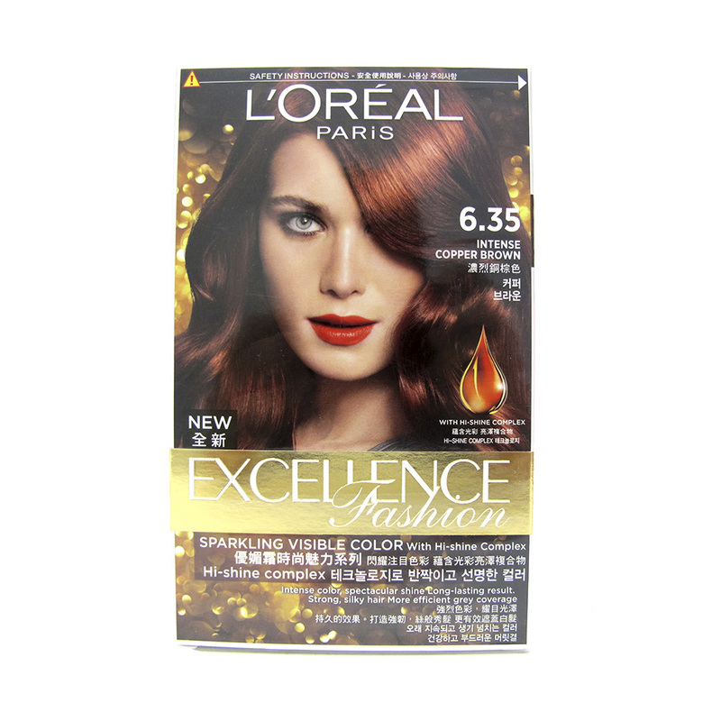 L'Oreal Excellence Fashion Hair Colour 6.35 Intense Copper Brown