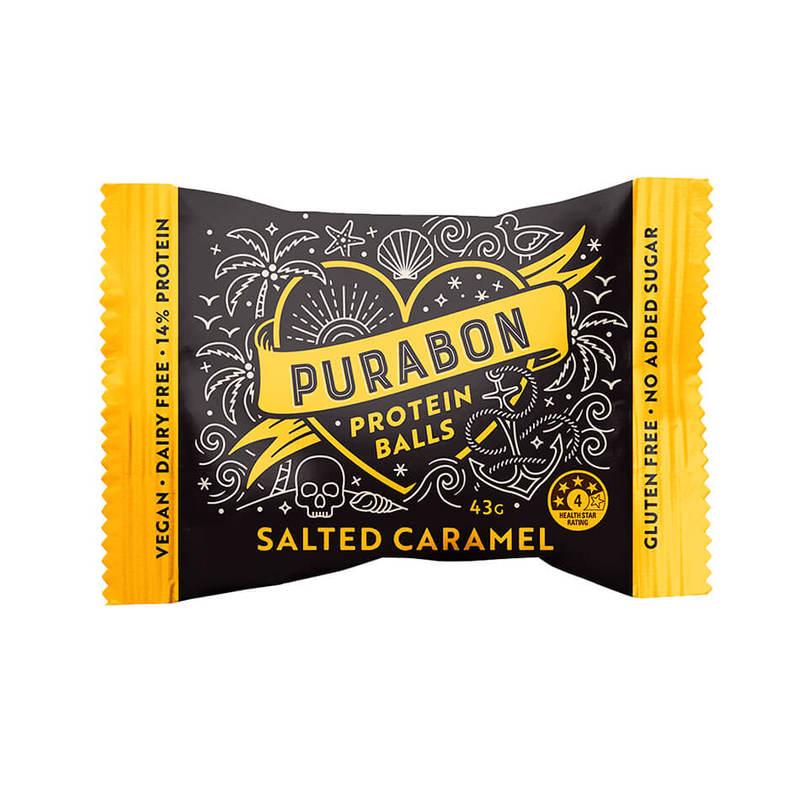 Purabon Salted Caramel Protein Ball, 43g