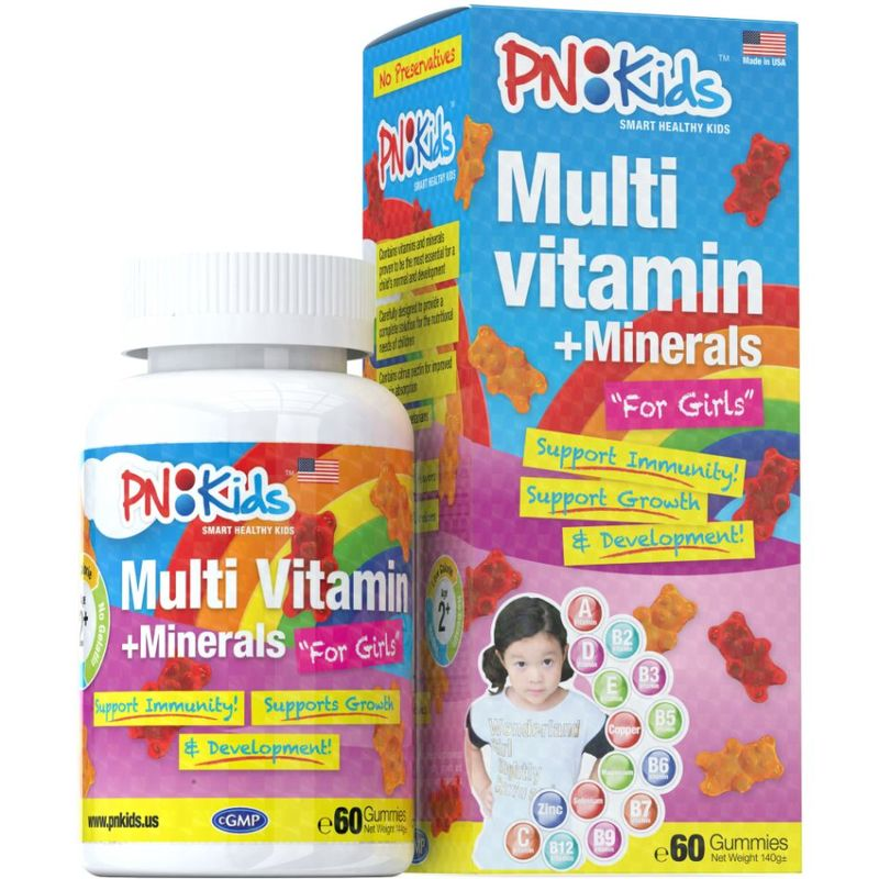 PNKids Multivitamins + Minerals Girls, 60 Gummies