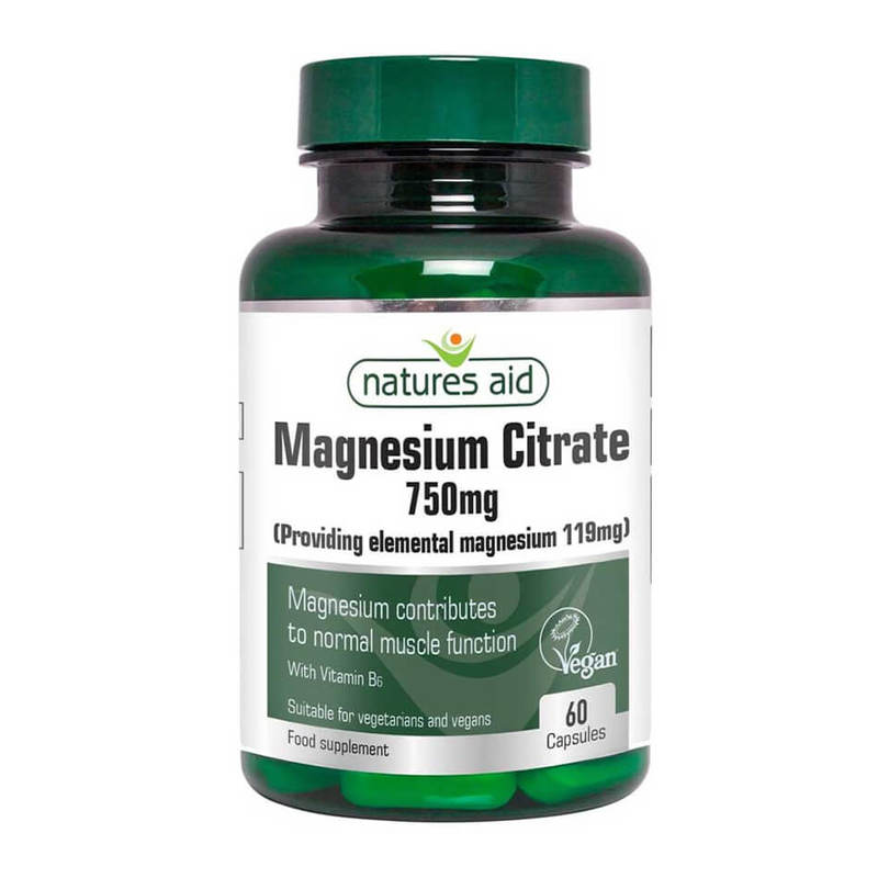 Natures Aid Magnesium Citrate 750mg 60 caps