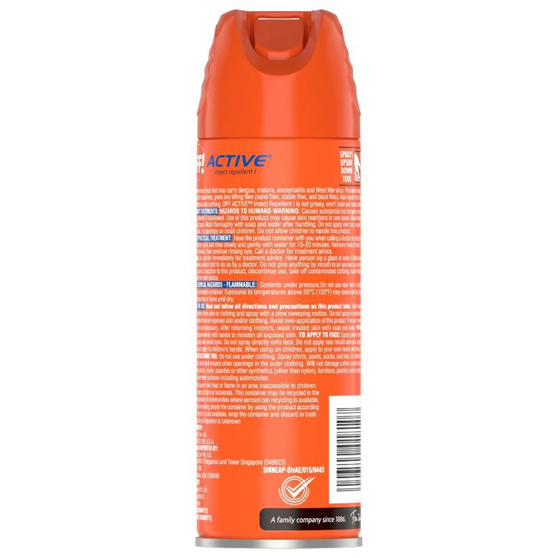 OFF! Active Sweat Resistant Insect Repellent, 170g
