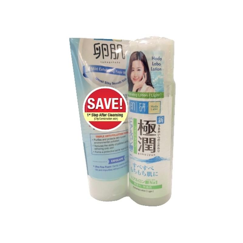 Hada Labo Light Lotion & AHA Face Wash Pack