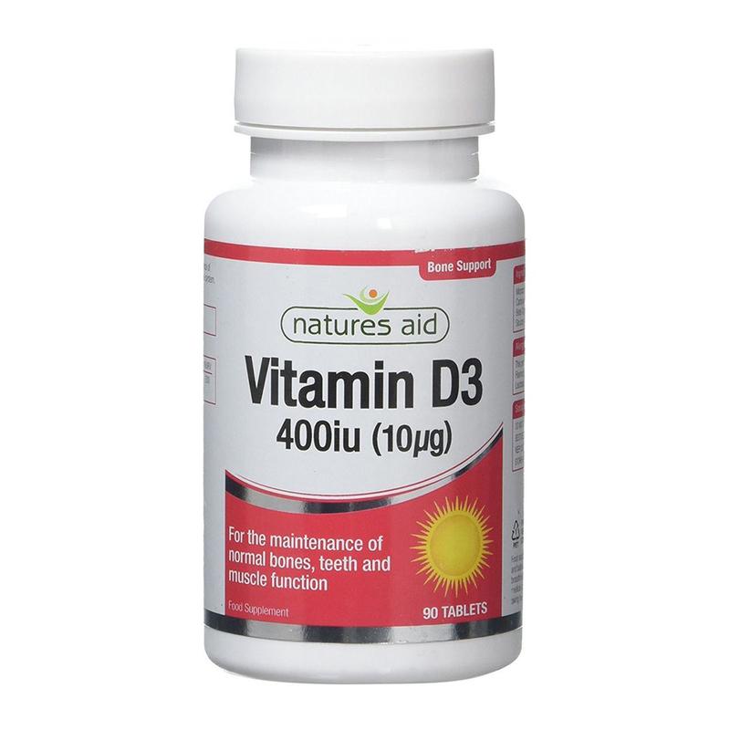 Natures Aid Vitamin D3 400iu, 90 tablets