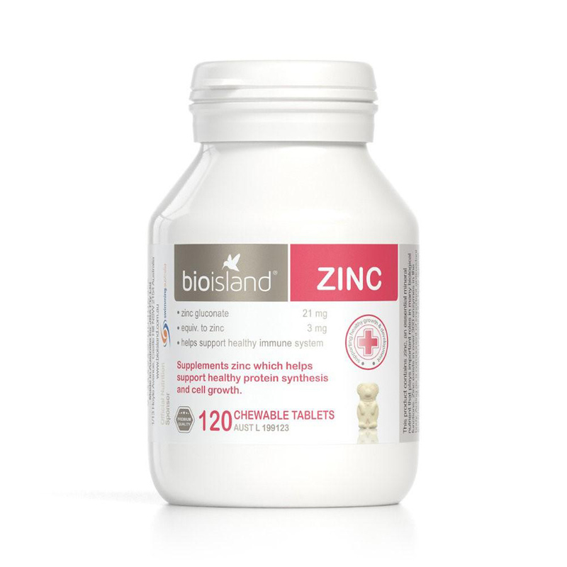 Bio Island Zinc for Kids, 120 tablets