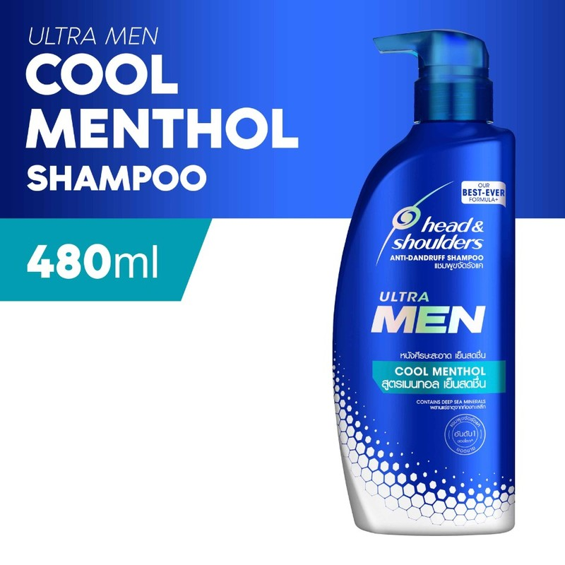 Head & Shoulders Ultramen Cool Menthol Shampoo, 480ml