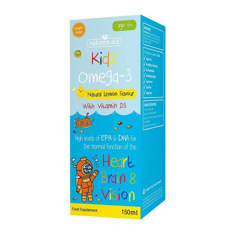 Natures Aid Kidz Omega-3 (6-12 Years) 150ml