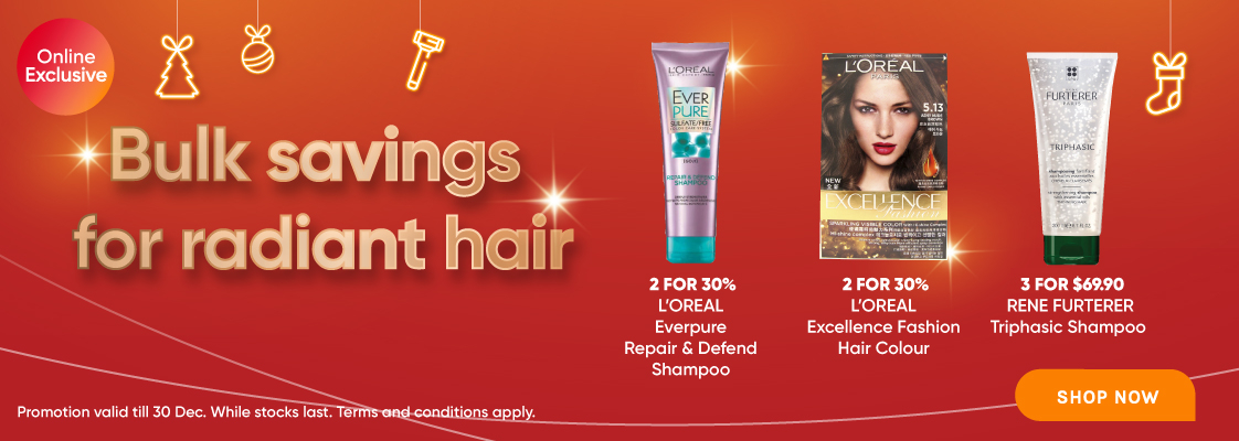 Bulk Deals Radiant Hair - 3 to 30 Dec