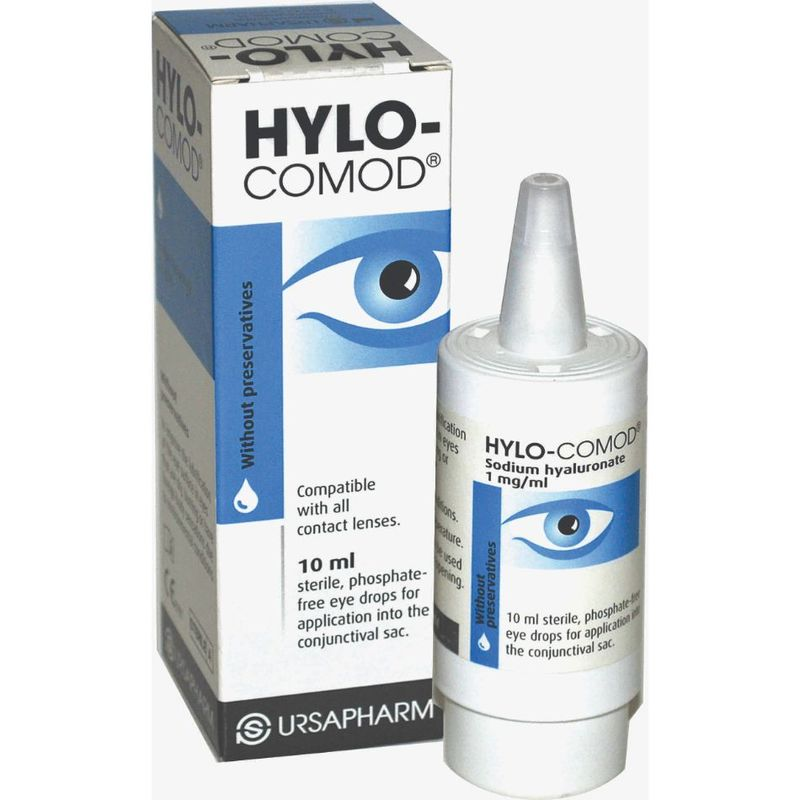 Hylo-Comod Lubricant Eye Drops, 10ml