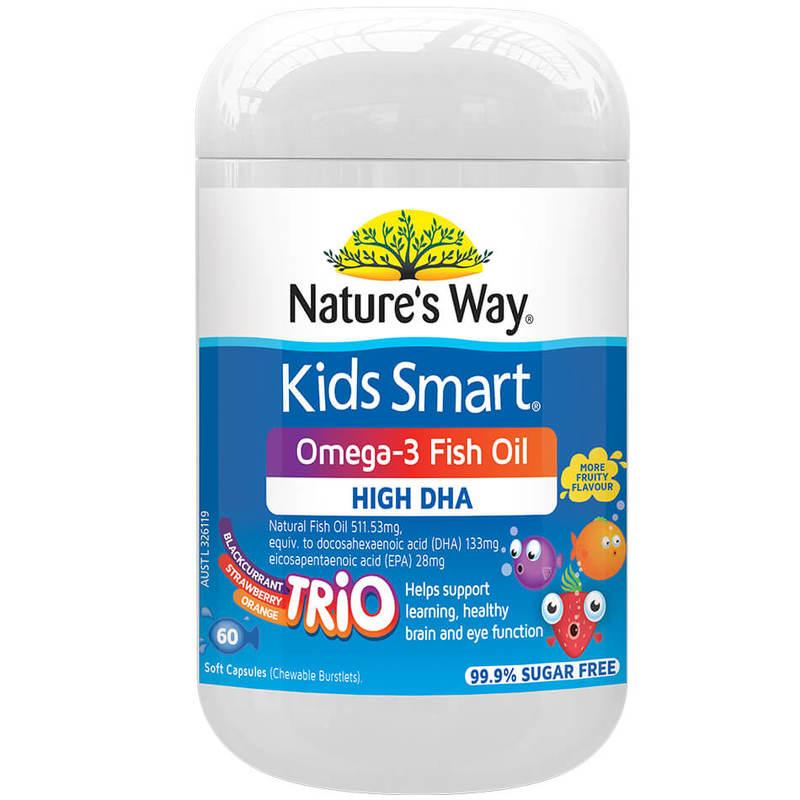 Nature's Way Kids Smart Burstlets Omega-3 Fish Oil Trio 60S