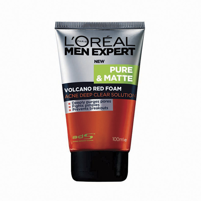 L'Oreal Men Expert Pure & Matte Volcano Red Foam, 100ml