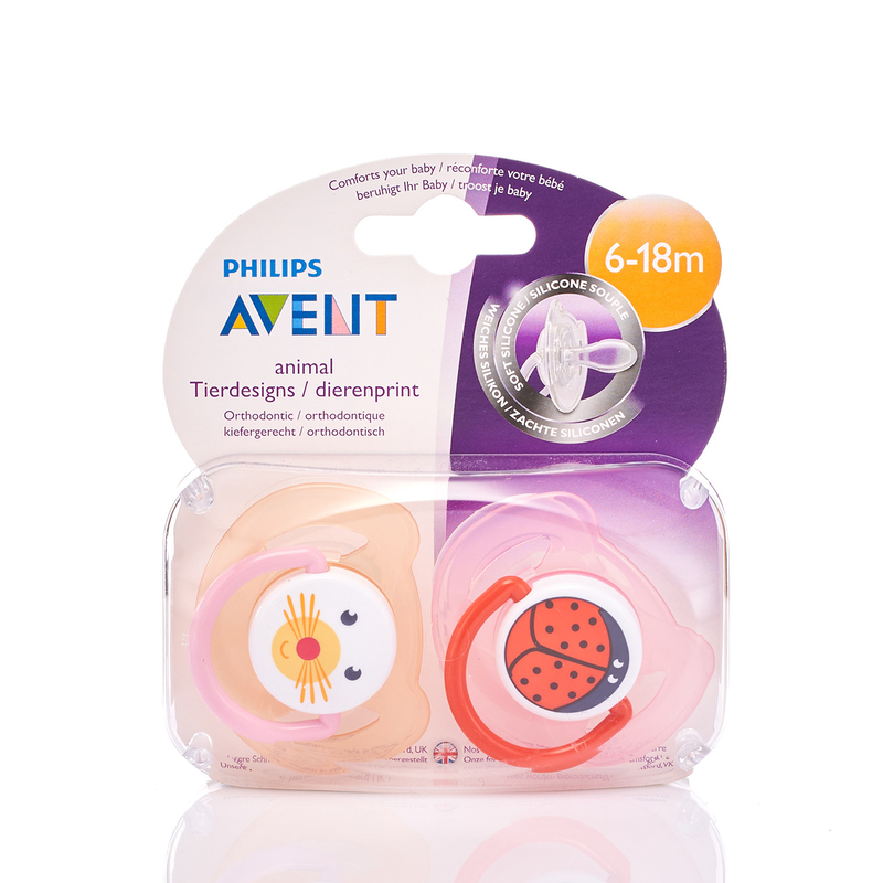 Philips Avent 6-18M Animal Soother x2pcs