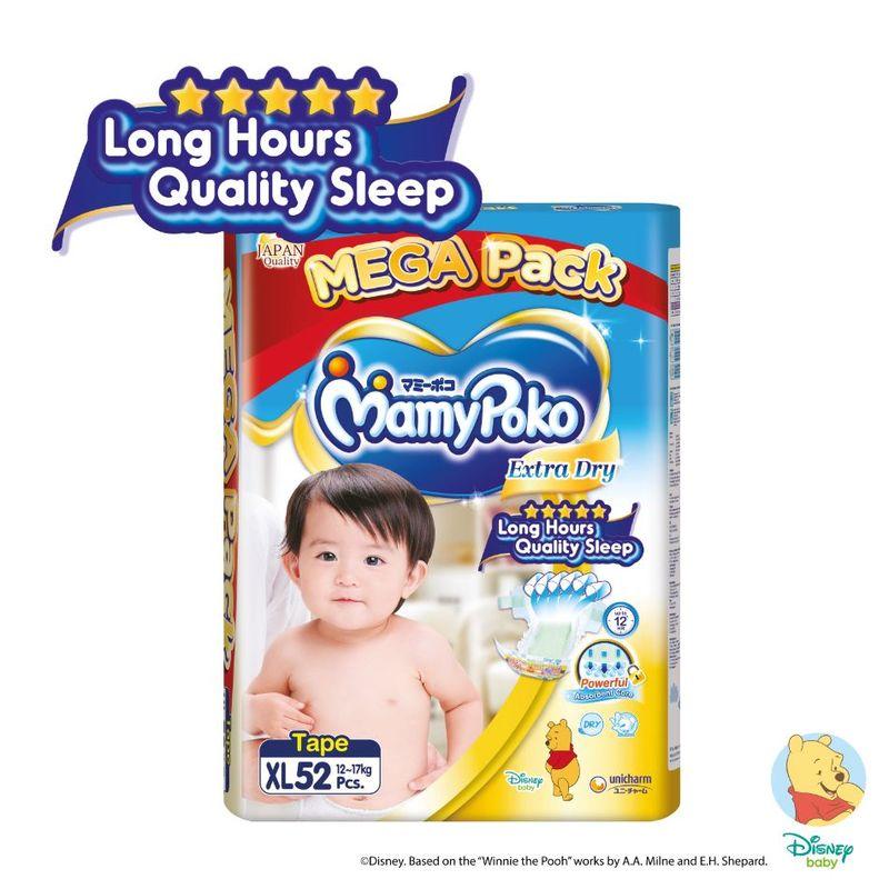Mamy Poko Extra Dry Tape XL, 52pcs